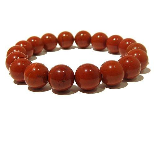 Bracelet Jaspe Rouge élastique