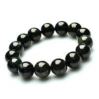 Bracelet Tourmaline noir élastique