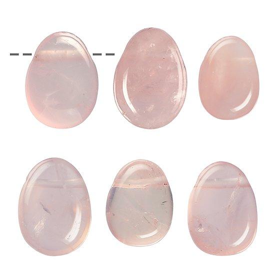 Pendentif percé Quartz rose