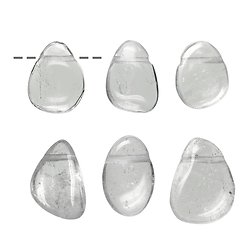 Pendentif percé Cristal de Roche