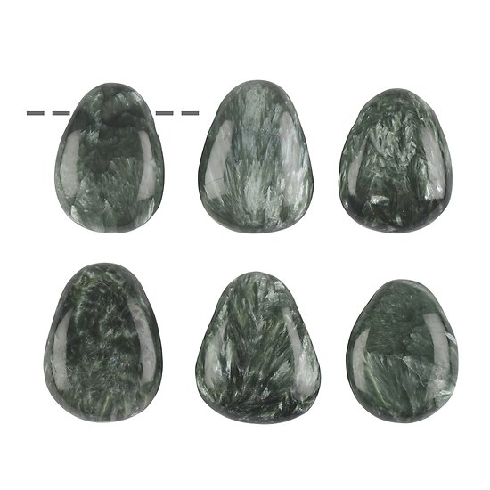 Pendentif Seraphinite percé