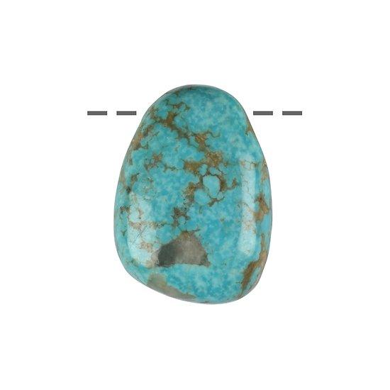 Pendentif Turquoise percé