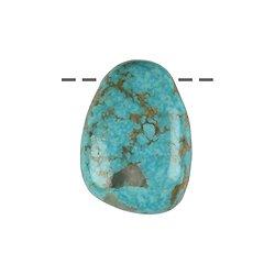 Pendentif percé Turquoise