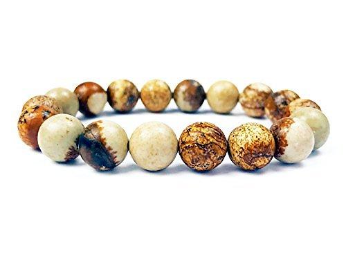 Bracelet Jaspe Paysage élastique