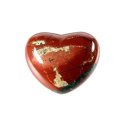 Coeur en jaspe rouge