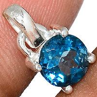 Pendentif Topaze blue London 925/000