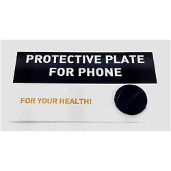 Plaque adhésive en shungite pour portable