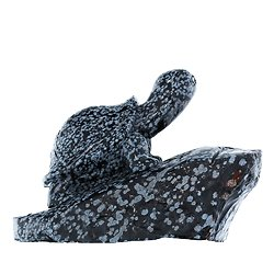 Sculpture tortue en Obsidienne Neige