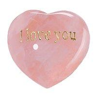 Coeur en Quartz rose I Love You