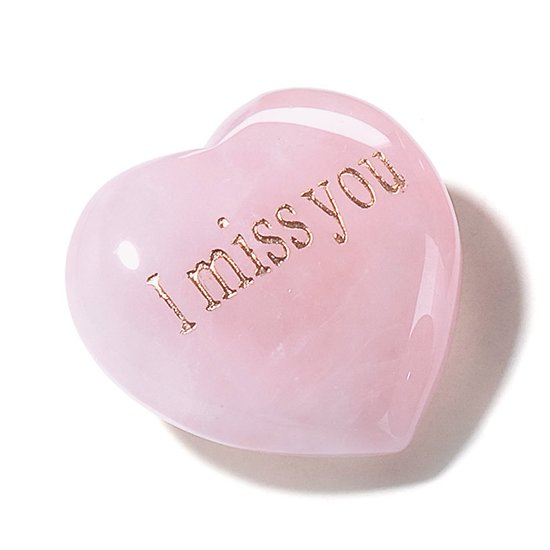 Coeur en Quartz rose I Miss You