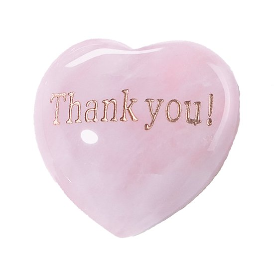 Coeur en Quartz rose Thank You !