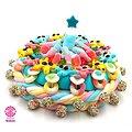 Gâteau de bonbons Anniversaire Garçon avec bougie étoile  320mm
