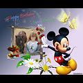 Cadre photo anniversaire Mickey