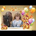 Cadre photo azyme anniversaire ballon-cadeau