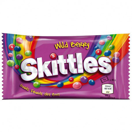 Skittles fruits des bois 45g