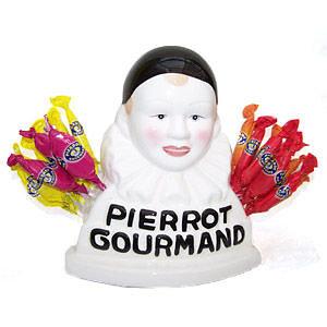Buste porte sucette Pierrot Gourmand + 25 sucettes