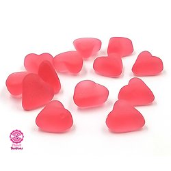Mini coeur rouge lisse