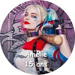 Disque azyme Harley Quinn