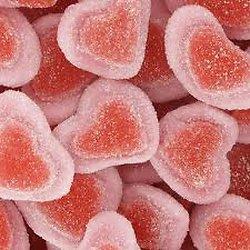 Coeur bicolore fraise