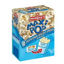 Popcorn micro-ondes salé 3*90g
