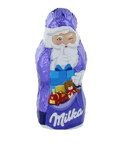 Mini Père Noël chocolat Milka - lot de 10