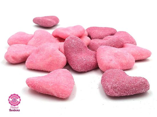 Coeur sucré mix violet/rose