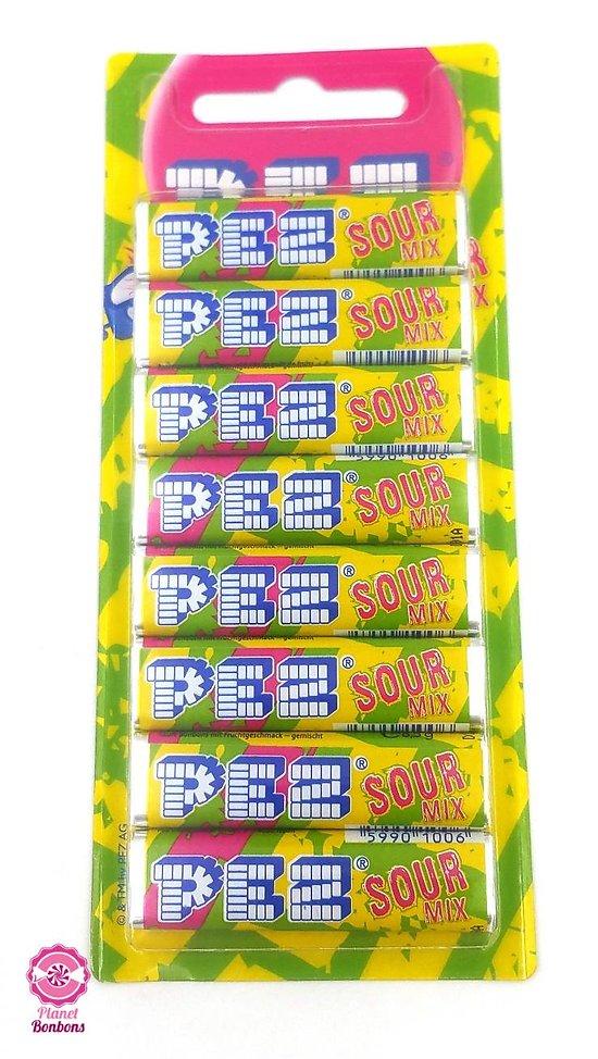 Bonbon PEZ acidulé - 8 recharges