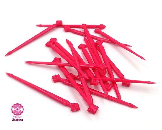 Pic à bonbons rose grand modèle- sachet de 125