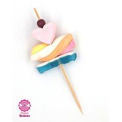 Brochette à bonbons Cocktail Coeur