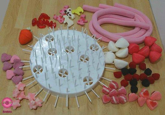 Kit montage gâteau de bonbons  anniversaire fille