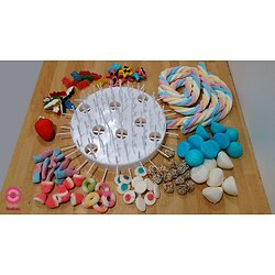 Kit montage gâteau de bonbons  anniversaire garçon