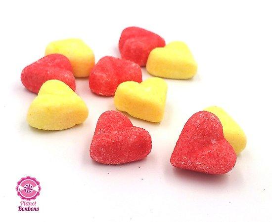 Coeur fraise-banane