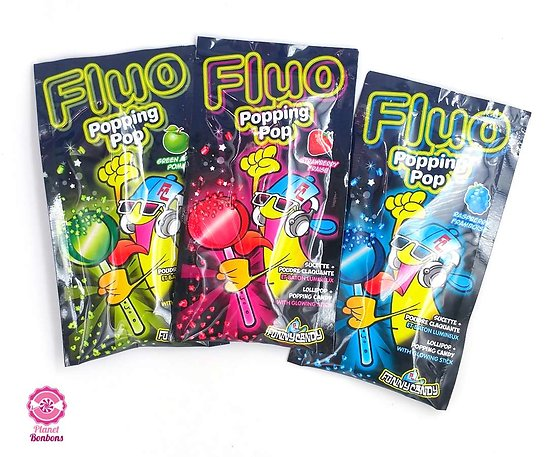 Fluo Popping pop - Lot de 3