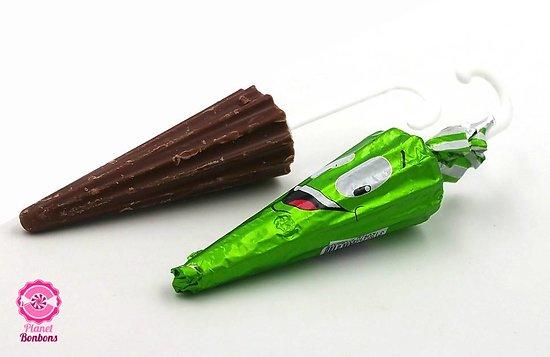 Parapluie chocolat (motif licorne) - Lot de 10