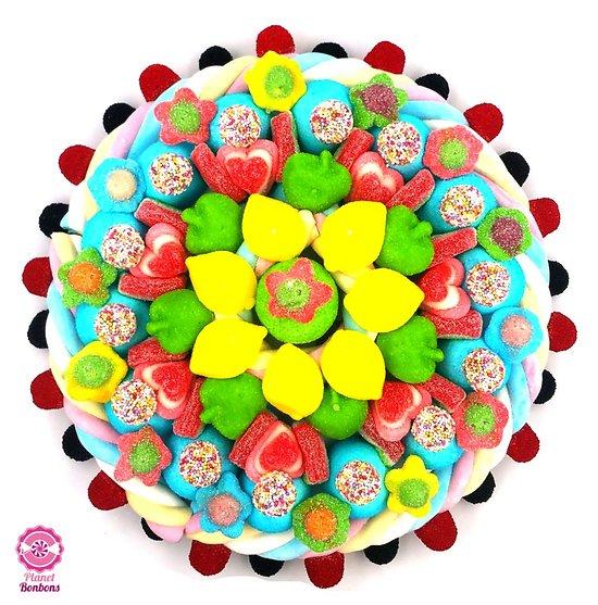 Maxi gâteau de bonbons Pétale Fleurie 320mm