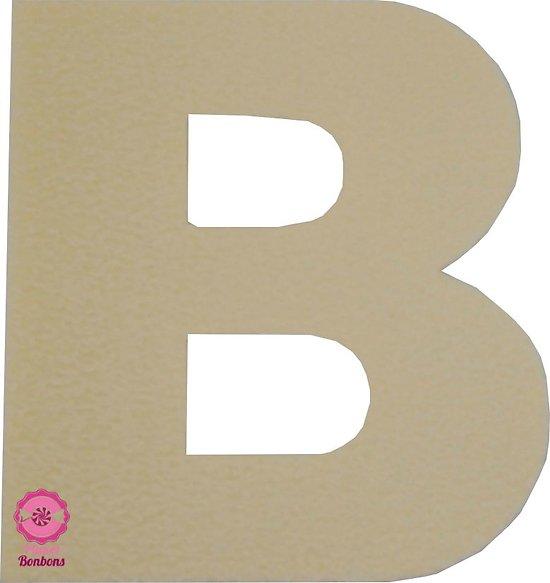 Support à bonbons Lettre B