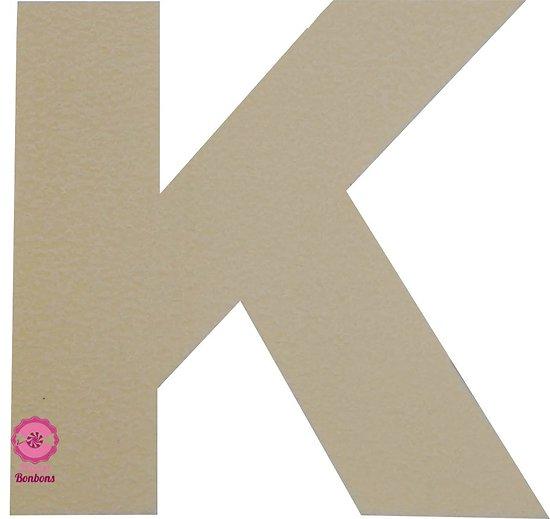 Support à bonbons Lettre K