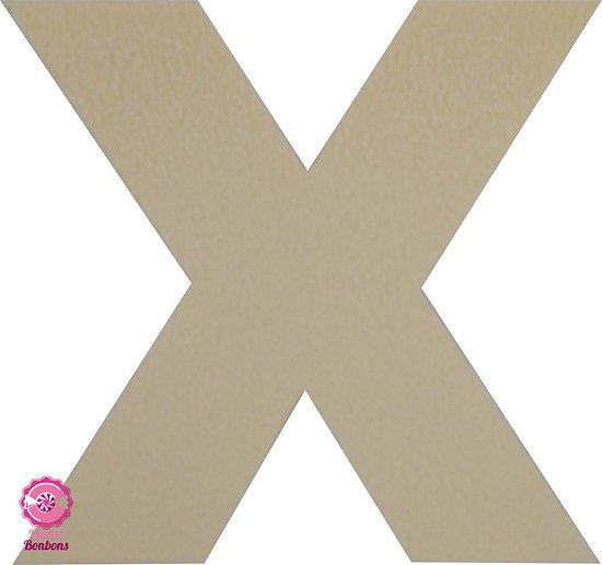 Support à bonbons Lettre X