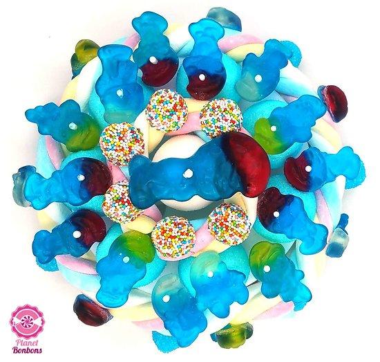 Gâteau de bonbons bleu Schtroumpfs 220mm