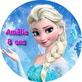 Disque azyme Reine des neiges Elsa
