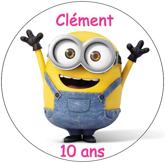 Disque azyme Minions personnalisable