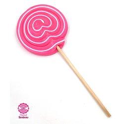 Sucette spirale Rose 80g, diam 9cm