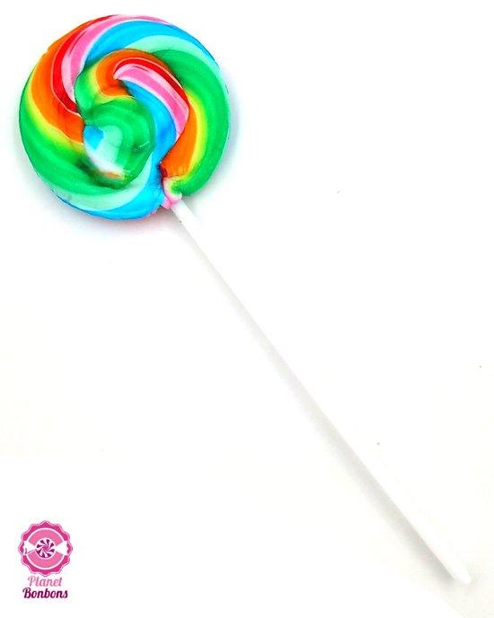 Sucette mini spirale multicolore fruit 12g