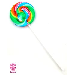 Sucette mini spirale multicolore fruit 12g