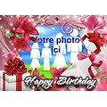 Cadre photo azyme anniversaire Happy Birthay
