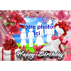 Cadre photo azyme anniversaire Happy Birthay