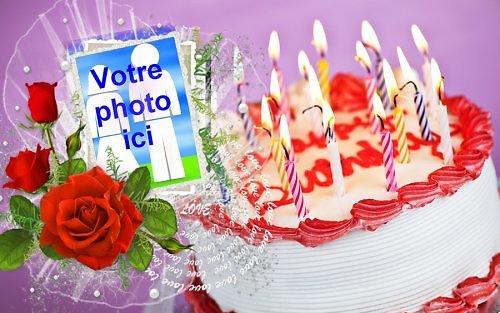Cadre photo azyme anniversaire gâteau