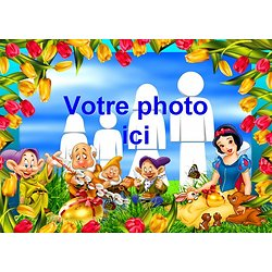 Cadre photo azyme Blanche Neige