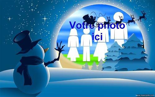 Cadre photo azyme Bonhomme de neige