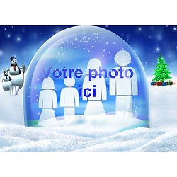 Cadre photo azyme Boule de neige